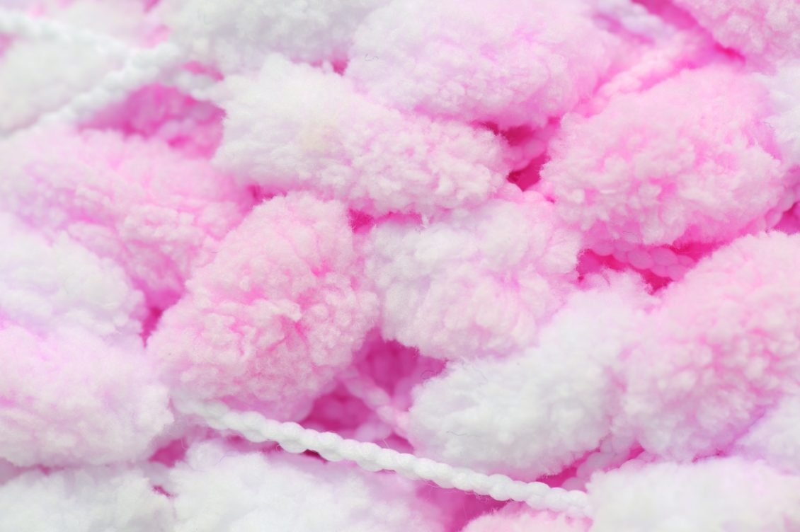 Rico Design Pompon Baby Pink Loza Wool Dublin