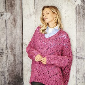 Ladies Oversized Super Chunky Sweater Pattern Stylecraft 9807