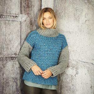 Ladies Sweater Super hunky Pattern Stylecraft 9809