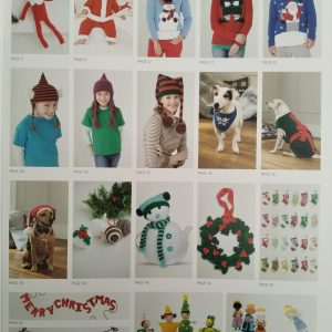 Christmas Selection Book knitting and crochet patterns Loza Wool Dublin