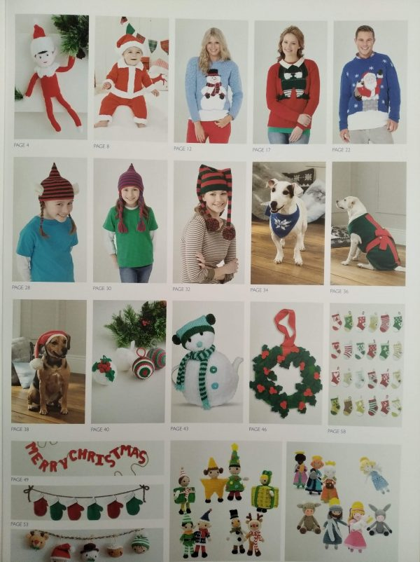 Christmas Selection Book knitting and crochet patterns Loza Wool Dublin