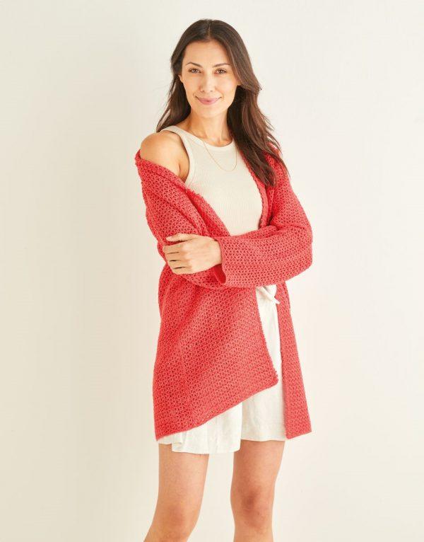 Ladies Crochet Cardigan Pattern Sirdar 10249 Loza Wool Dublin