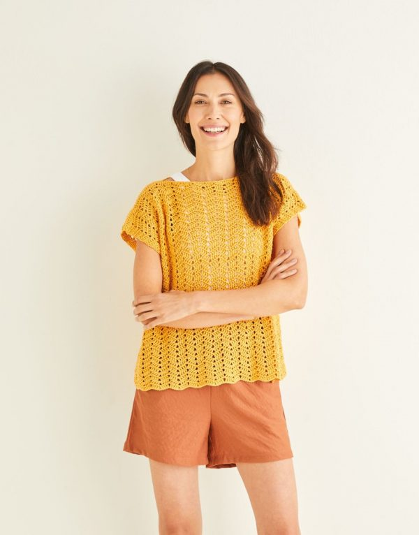 Ladies crochet top pattern Sirdar 10250 Loza Wool Dublin