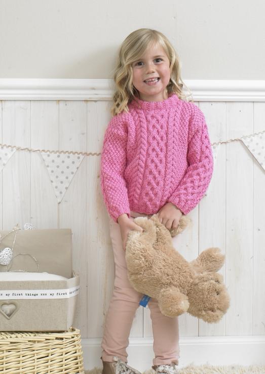Stylecraft 4175 Childrens Aran Sweater Pattern Loza Wool Dublin