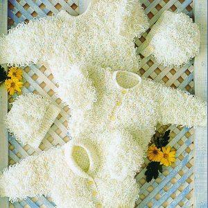 Babies Loopy Cardigan pattern Stylecraft 4454 Loza Wool Dublin