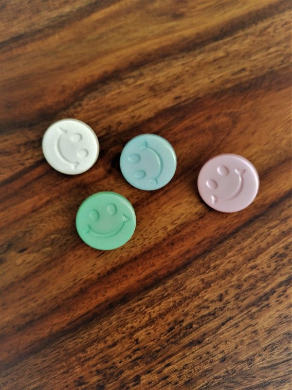 Smiley Face Buttons Loza Wool Dublin