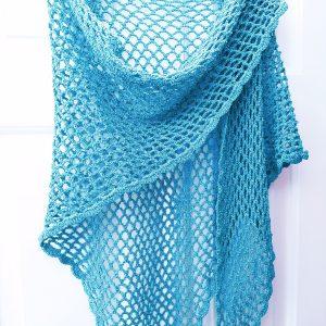 Crochet Chain Mesh Shawl in Adriafil Cupido Loza Wool Dublin
