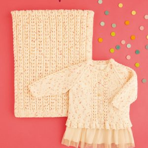 5440 Baby Cardigan and Blanket Pattern