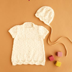 Hayfield 5447 Baby Dress and Bonnet Pattern